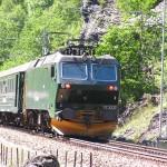 Flåmsbana - trein door het Flåmsdal, Noorwegen