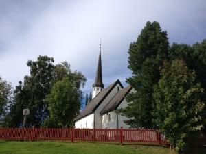 de kerk van Skaun, olavspad, Noorwegen
