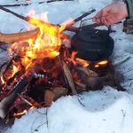 Sneeuwschoenwandeling met kampvuur, Fru Amundsen, Noorwegen