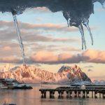 Lofoten rorbuer uitzicht, Noorwegen