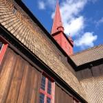 Sstaafkerk Ringebu, Olavspad, Noorwegen, Fru Amundsen