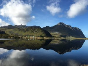 Kust bij Eggum, Lofoten, Noorwegen, Fru Amundsen