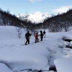 Wandeling op sneeuwschoenen, Fru Amundsen, Noorwegen