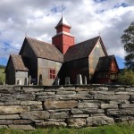 de kerk van Dovre, Olavspad, Noorwegen, Fru Amundsen