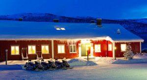 Gargia fjellstue, paasreis Finnmark Fru Amundsen, Noorwegen