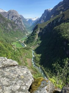 Stalheim, Naeroydal, Noorwegen, Fru Amundsen